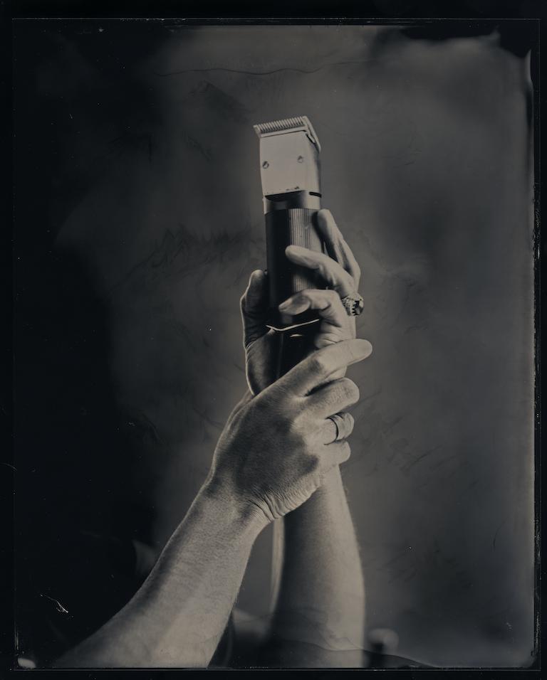 In Your Hands, 2020. Tintype, 8 x 10 in.